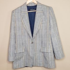 Linda Allard Ellen Tracy Glen plaid wool/cashmere